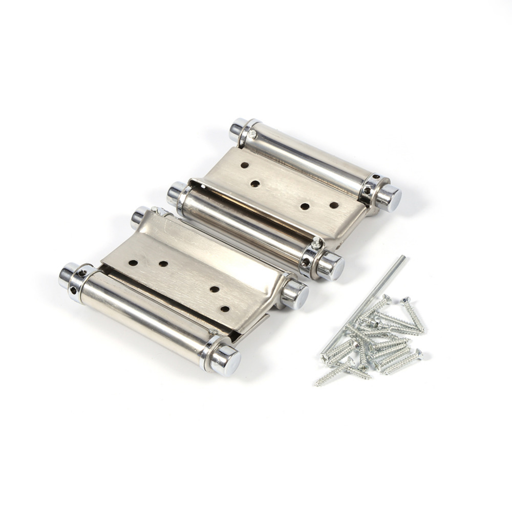 2pcs/set 3 Inch Double Action Door Hinge Stainless Steel Hinge For Cafe Door Swing Furniture Hardware(China (Mainland))
