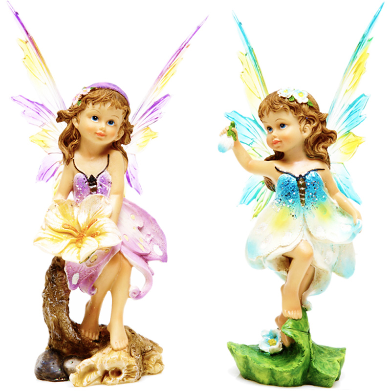 Creative Home Decoration Resin Crafts Angel Christmas Ornament European Flower Fairy Send Girlfriend Gift - happy childhood lxh store