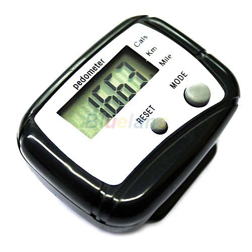 1pc Black LCD Pedometer Step Calorie Counter Walking Distance Sport Pedometer 04AT(China (Mainland))