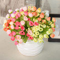 Mini 15 Heads Silk Flowers Artificial Flower Festival Patriarch Placed Rose Flower For Wedding Home Party