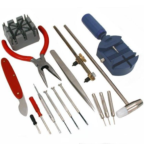 USA Delivery 16pc Watch Back Opener Repair Tool Kit Band Pin Strap Link Remover USA Shipping(China (Mainland))