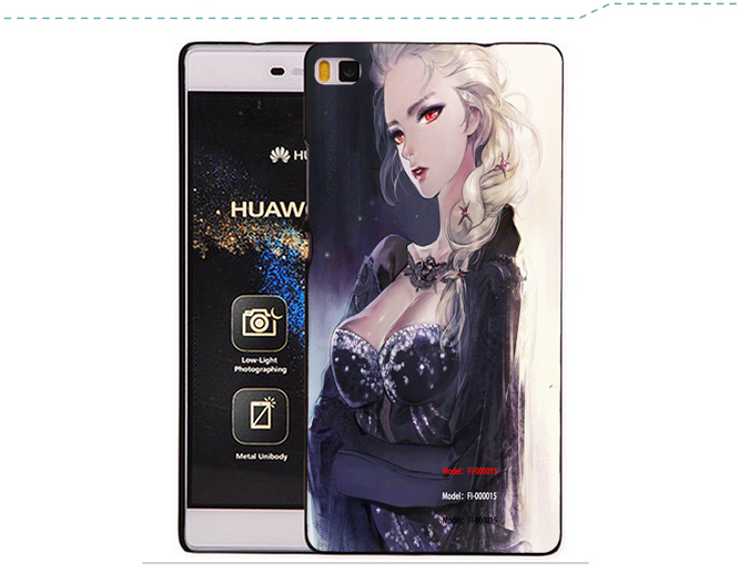 IMAK Thicker Wearable Air II Crystal Phone Case for Huawei Ascend P8 with Golden Retail Package(China (Mainland))