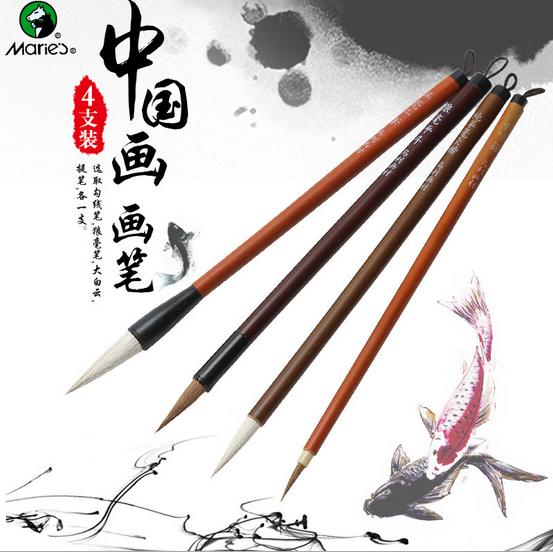 Pcs lot calligraphy brush woolen weasel hair writing