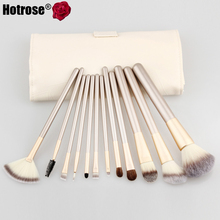 12Pcs Makeup Brush Kits Professional Synthetic Cosmetic Makeup Brush Foundation Eyeshadow Eyeliner Brush Kits pinceis maquiagem(China (Mainland))