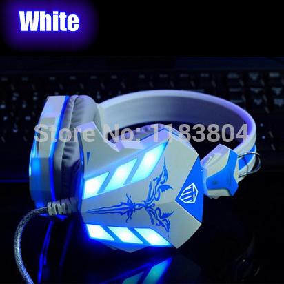 Super hot Stereo LED Shinning Gaming Headset Headphone Earphone with Microphone Razer Gamer MSN PC headset * free shipping(China (Mainland))