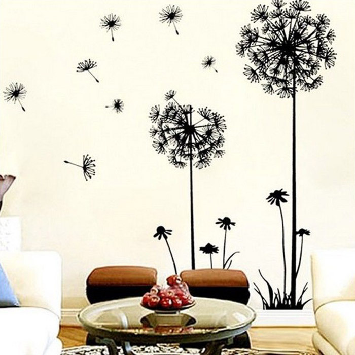 Dandelion Flower Tree 2015 NEW Living Room Bedroom Backdrop Home Decor Tree wall Stickers Home Decor Pegatinas De Pared Paredes(China (Mainland))
