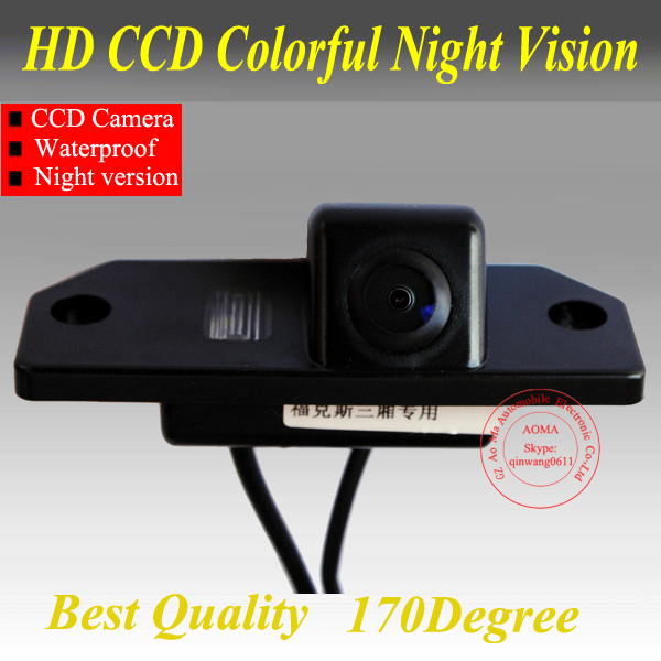 """Free shipping CCD 1/3"""" Car Rear view Camera Parking Back Up Reversing Camera For Ford Focus(3)/2008/2010 Focus(2) Night vision(China (Mainland))"""