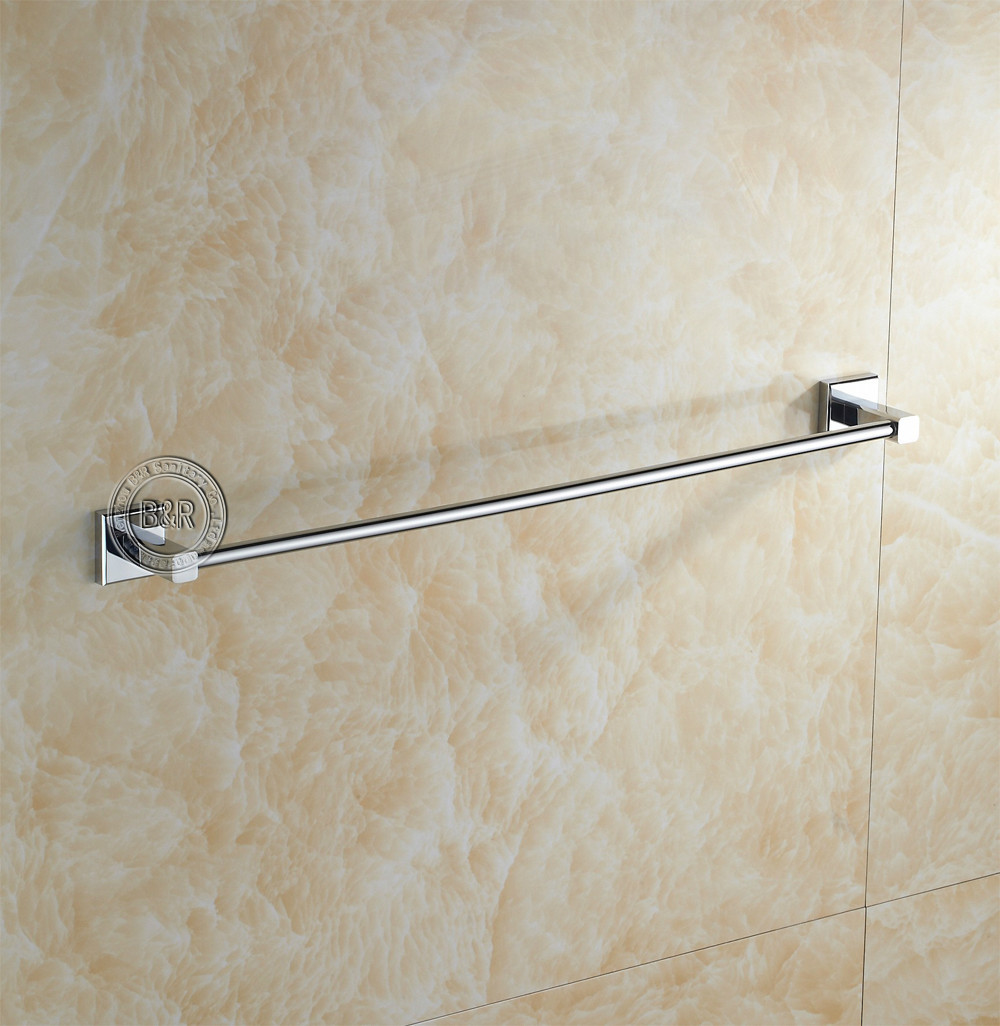 Free shipping B&R Luxury Bathroom stainless steel double 60cm towel holder BR-87003(China (Mainland))