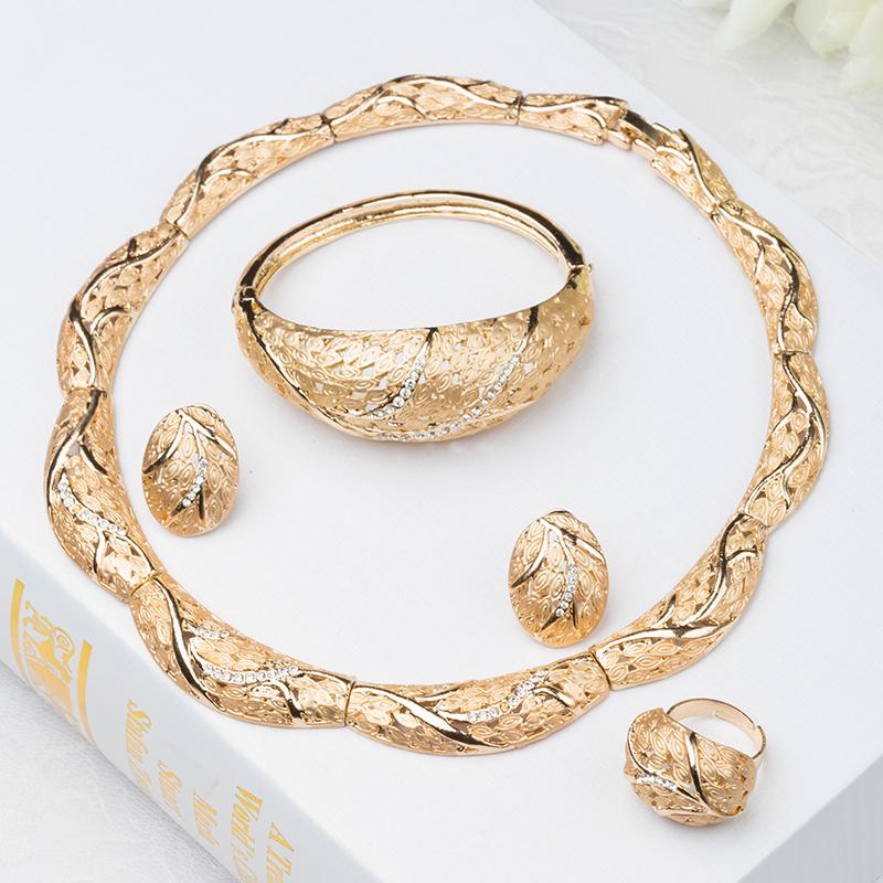 2015 Fashion Dubai Gold Jewelry 18k Plated Set Beautiful Necklace Mother Bridal , J005 - Verynice store