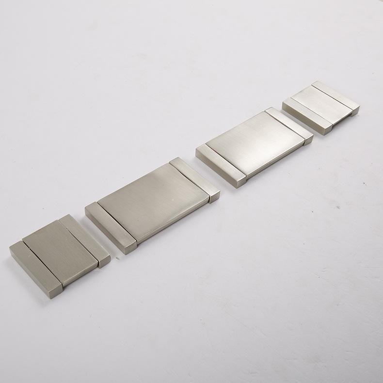 Zinc Satin Nickel Cabinet Pull Cupboard Drawer Handle Knobs Wardrobe Handle With Screw Furniture Hardware(China (Mainland))