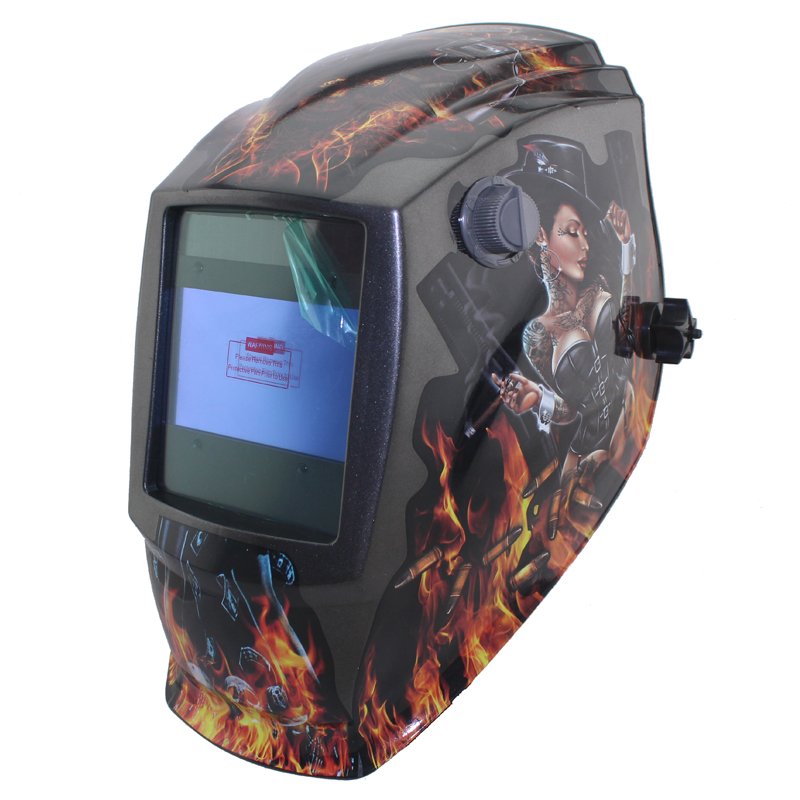 Sexing Out control Big view eara 4 arc sensor Solar auto darkening TIG MIG MMA welding mask/helmet/welder cap/lens/face mask(China (Mainland))
