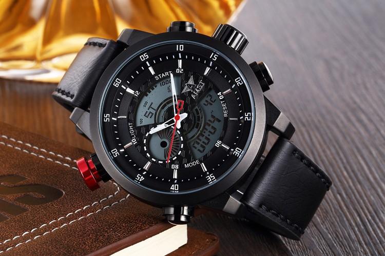 Люксовый Бренд AMST Часы Мужчины Кварц LED Мода Военная Повседневная Спортивные Часы Люксовый Бренд Relógio Наручные Часы Подарок