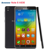"In stock 4G Original Lenovo Note 8 A936 6"" Android 4.4 Smartphone MT6752 Octa Core 1.7GHz ROM 8GB RAM 1GB GSM & WCDMA & FDD-LTE"