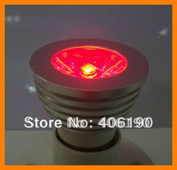 20pcs E27 1*3W RGB LED Bulb Lamp Spotlight with Wireless Remote Controller AC 85-265V residential lighting