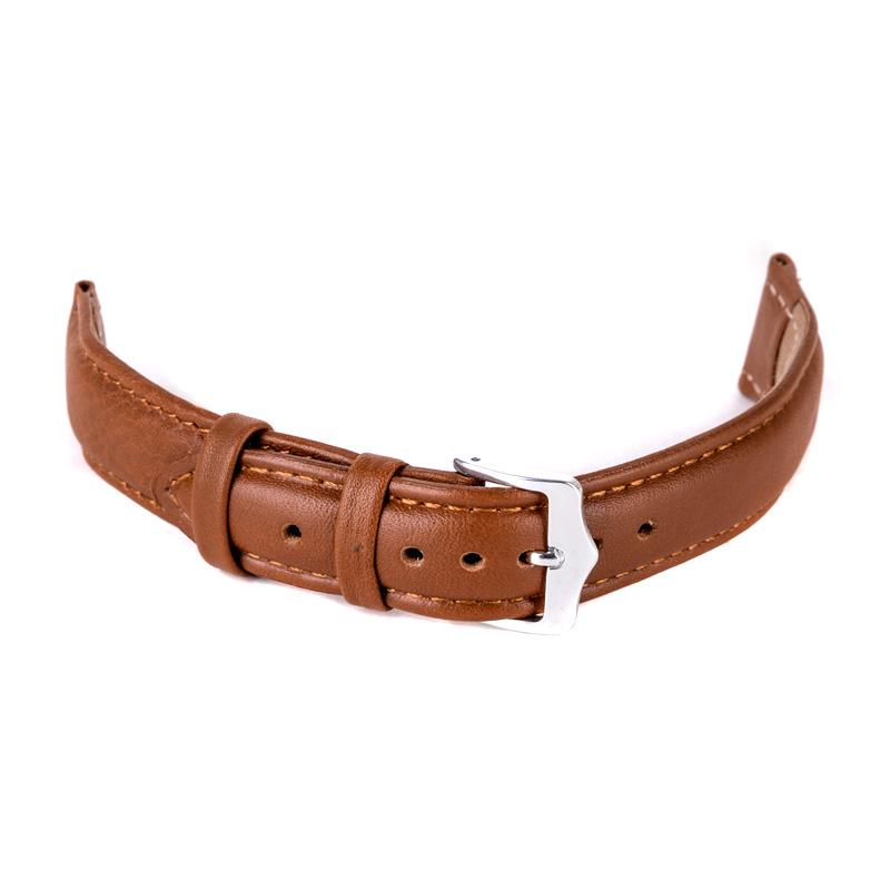 Watch Band 12mm,14mm,16mm,18mm,20mm,22mm,24mm Soft Sweatband Leather Strap Steel Buckle Wrist WatchBand