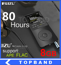2015 Latest 8GB Ultrathin MP3 Player with1.8 Inch Screen can play 80h, Original RUIZU X02 Mp3 Music Player(China (Mainland))