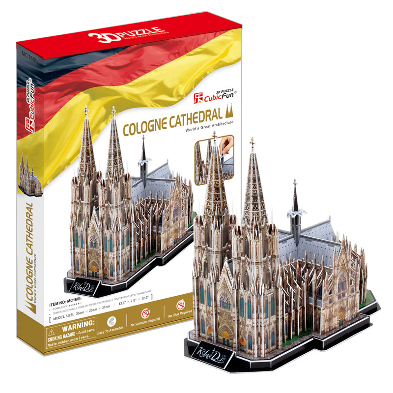 2014 Limited Ubic 3d Three-dimensional Puzzle The Cologne Cathedral In Germany Assembled Model Building Children's Toys, Adult(China (Mainland))
