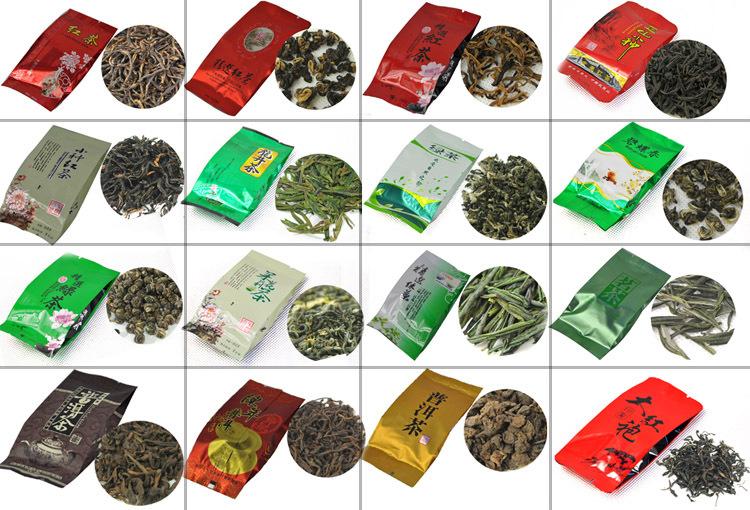 40 Different Flavors Famous Tea,includ Black/Green/White/Yellow/Jasmine Tea,Puerh,Oolong,Tieguanyin,Dahongpao,Fruit Flavor Tea(China (Mainland))