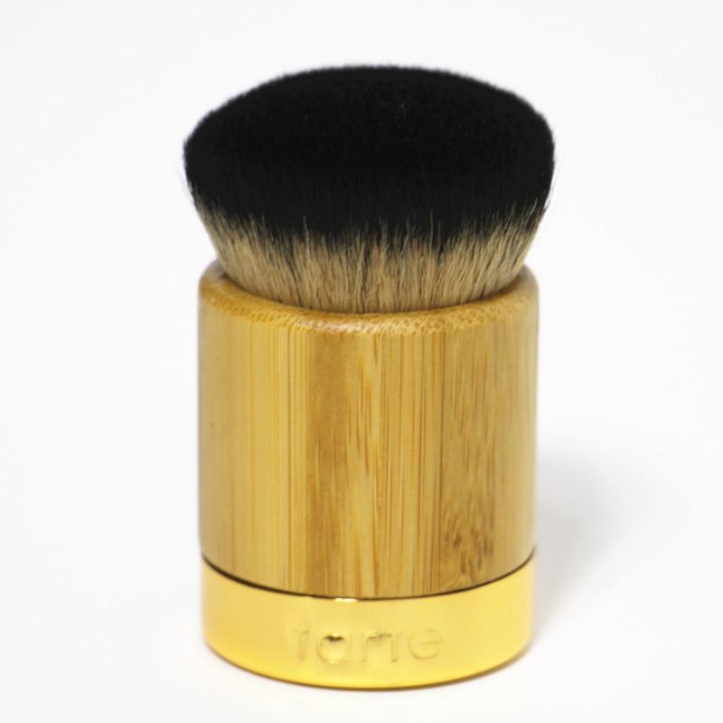 origianl tarte bamboo handle liquid foundation makeup brush mascara brush big professional foreign trade import wool fibers(China (Mainland))