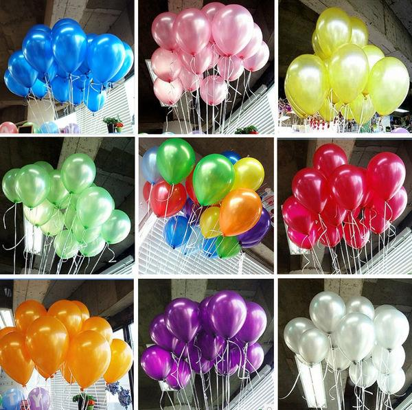 HOT SALE 100pcs/lot 10inch1.2g Latex balloon Helium Thickening Pearl balloons Wedding Party Birthday Balls Classic toys gifts(China (Mainland))