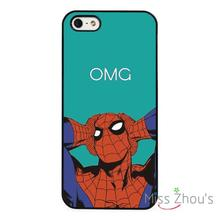 Funny Spiderman Marvel Superhero back skins mobile cellphone cases cover for iphone 4/4s 5/5s 5c SE 6/6s plus ipod touch 4/5/6