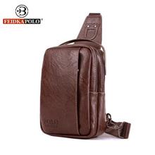 Buy Famous Brand Bag Men Chest Pack Sling Single Shoulder Strap Pack Bag Leather Travel Bag Men Fashion Handbags Rucksack Chest Bag for $17.95 in AliExpress store
