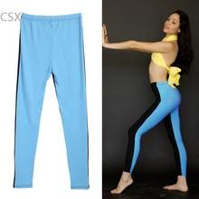 Fashion 2015 New Women Girls Sexy Stitching Color Soft Stretch Leggings Skinny Pants Running Trousers 12(China (Mainland))