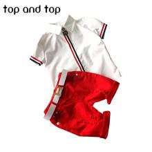 2016 new kids clothing set baby boy cotton t shirt short pants children set for summer boy cartoon clothes fits 2 colors 2-6T(China (Mainland))