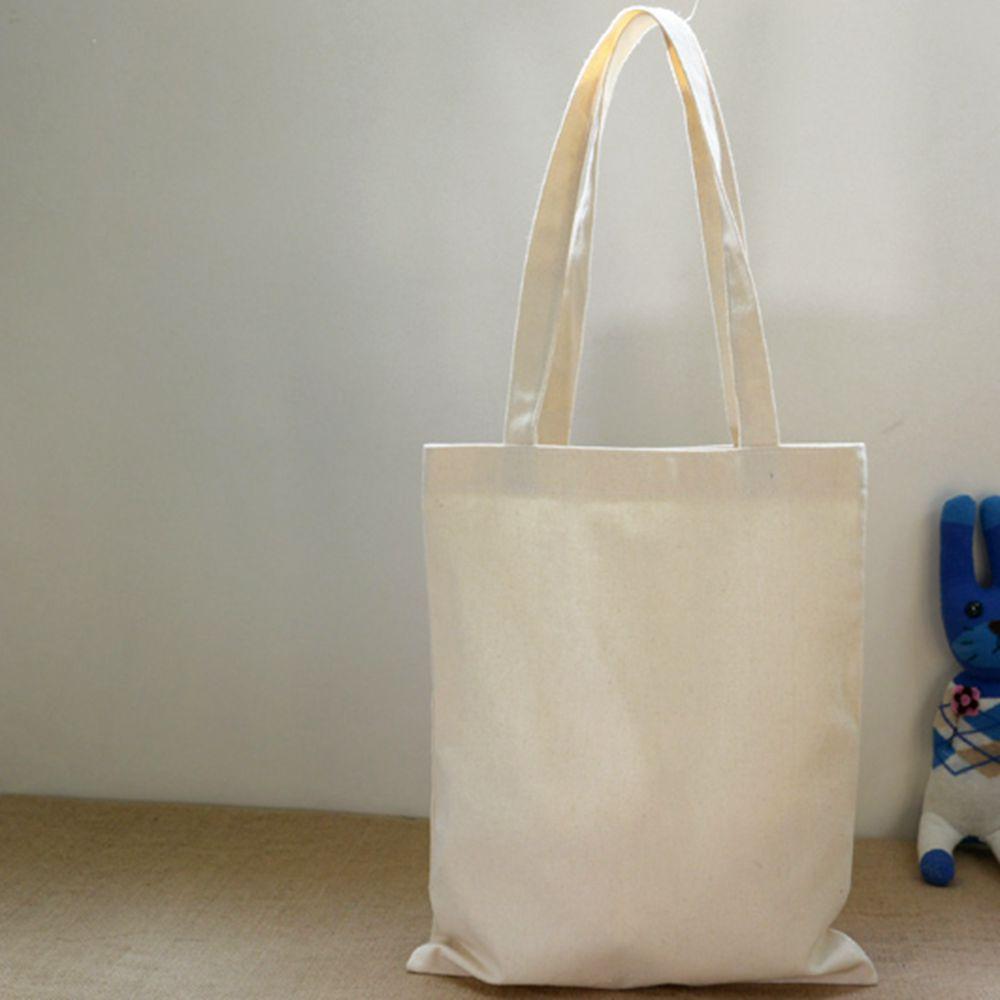 100% 12oz Cotton Eco Bags Women's Handbags Shoulder Blank Canvas Solid Tote Bag Shopping Ladies Travel Reusable Plain Women Lady(China (Mainland))