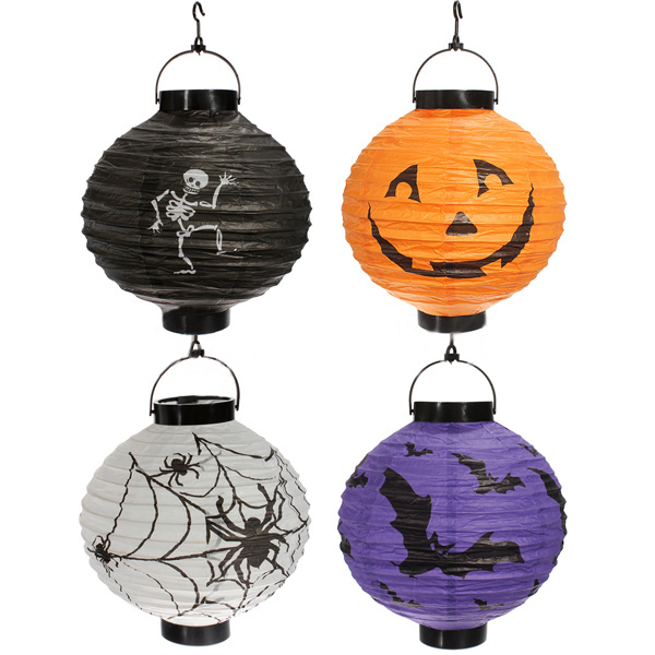FSLH-4x Pumpkin Spider Bat Skeleton Lamp Paper Lanterns Decoration Party(China (Mainland))