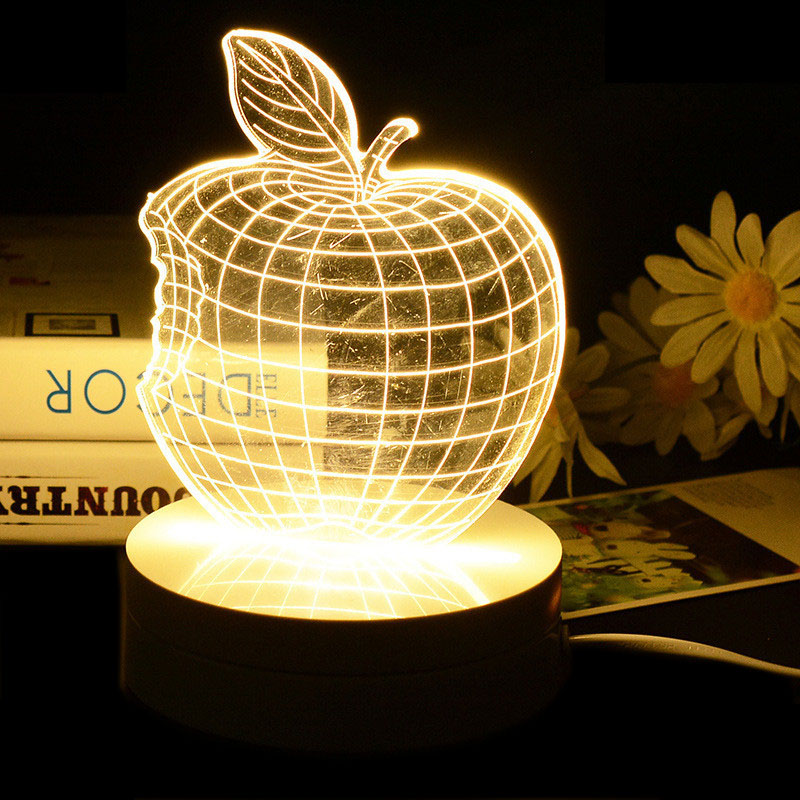 Christmas Decoration Creative Cute 3D Bedroom Table lamp Bedside LED Night light for Baby Desk Romantic Atmosphere Lamp(China (Mainland))