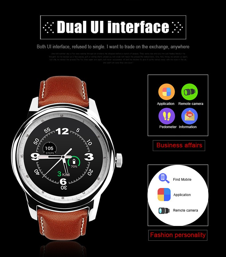 2016 Best Selling Smart Watch Full HD IPS Screen Bluetooth SmartWatch Fitness Tracker App For iphone IOS Android Phone