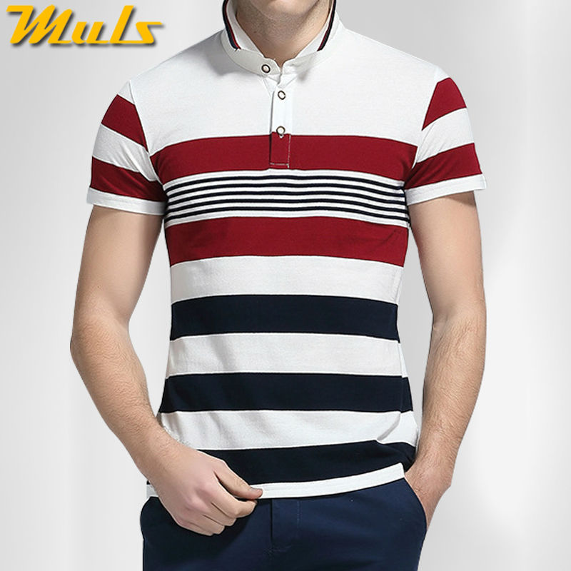 Striped men polo shirts high quality quick dry pure cotton short polo men top tees White Green M-4XL Muls brand clothing 6820(China (Mainland))