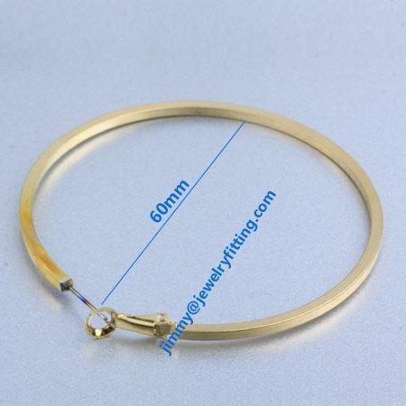 Earring fittings fashion hoop earring  loop earrings components  wholesale price  60mm/ 100pairs<br>