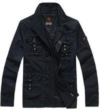 2016 Free shipping man Brand Fashion outdoor clothing Italy Peuterey plus size stripes spring Men Leisure jacket coat / S-XXXL(China (Mainland))