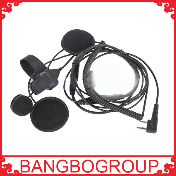 High Quality 2 Pin Walkie Talkie headset for Motorcycle Helmet PTT Earphones(China (Mainland))