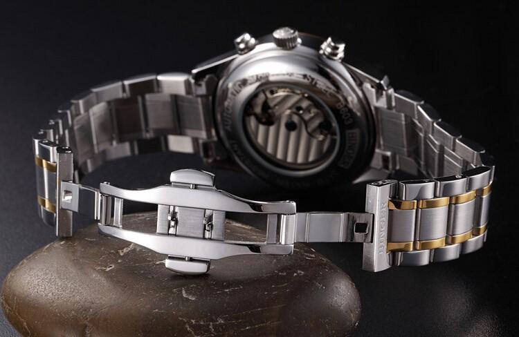 2016 Новый Модный золото Моды Роскошь Наручные Часы мужчины смотреть спортивный Бренд Бингер стали Мужчины Автоматическая Нержавеющей Часы