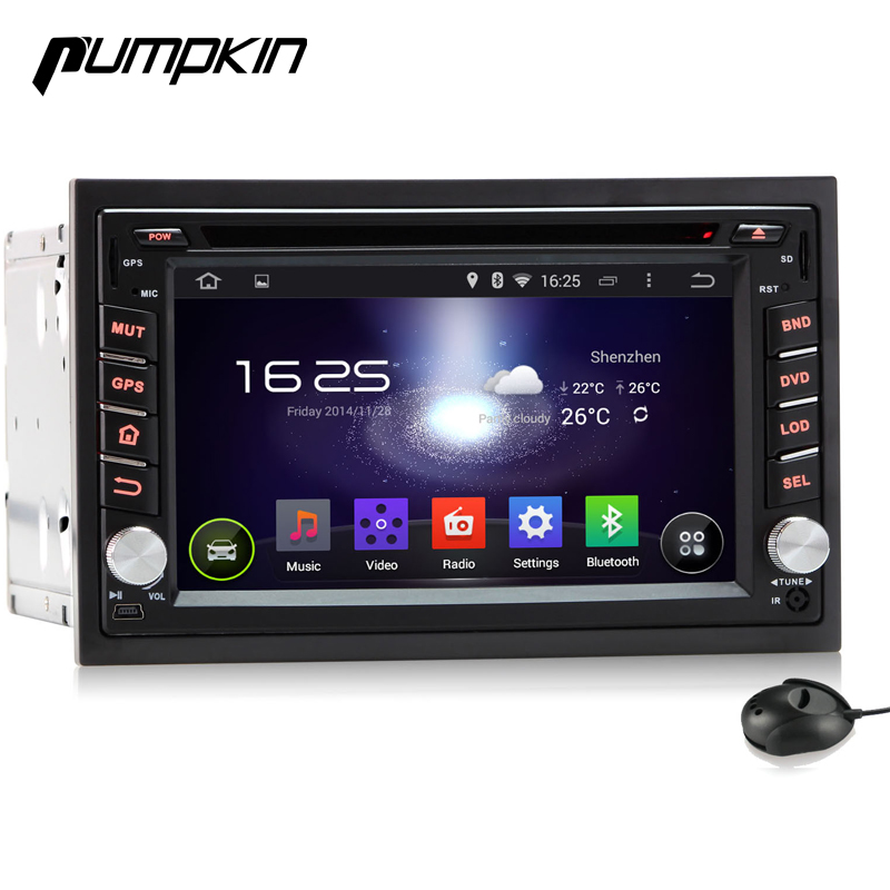 2 Din Android 4 4 Car DVD Player Universal Capacitive Touchscreen 3G WIFI Audio GPS Navigation