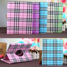 Buy Tablet case Apple ipad 4 / 3 / 2 flip stand PU leather plaid pattern rotate shell protective tablet cover para funda coque for $9.95 in AliExpress store