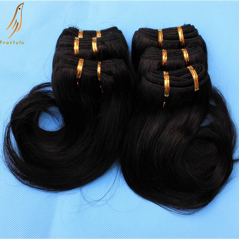 Гаджет  Free shipping brazilian humano remy hair 6 bundles cheap price black or brown short hair cut weave extension ,30gram/piece None Волосы и аксессуары