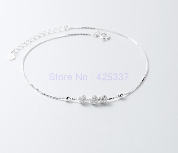 Мода Стерлингового Серебра 925 Круглых Бусин Браслеты Женщины Шарм Марка Ювелирных Изделий Бесплатная Доставка (SA029)