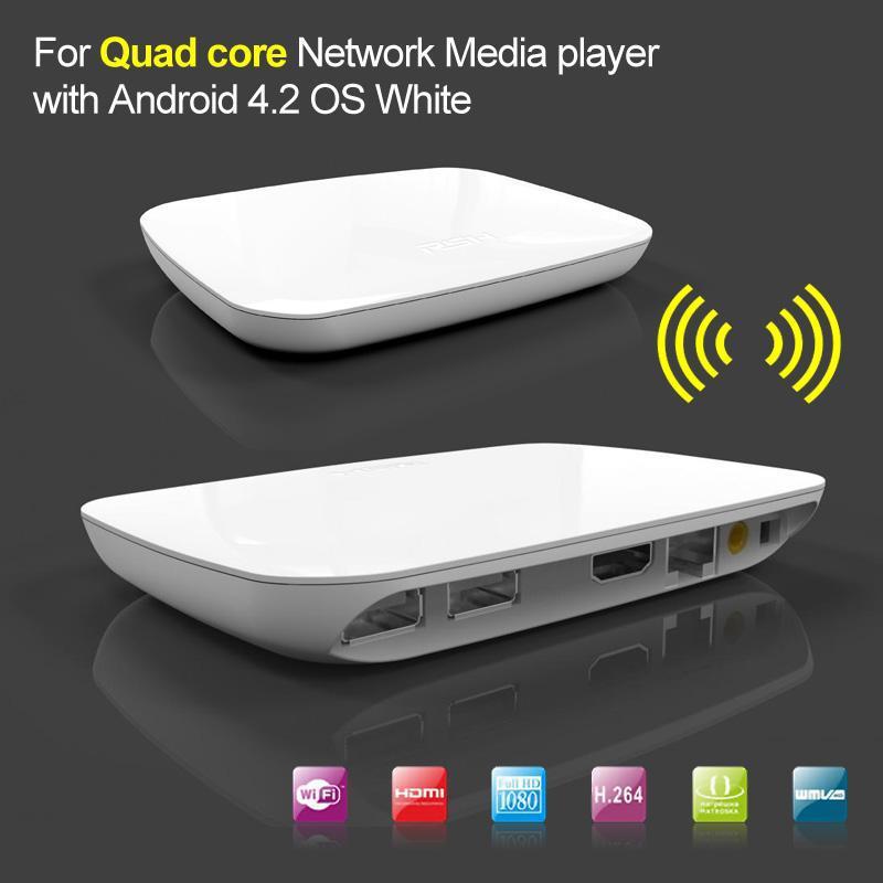 10pcs/lot Quad Core Android Google 4.2 Smart TV Box XBMC Network Media Player Full HD 1080P WIFI HDMI XBMC with Remote Control(China (Mainland))