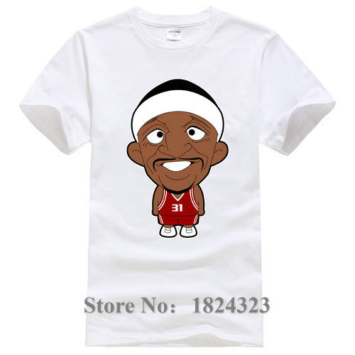 Buying New Men's 100% Cotton Short Sleeve t shirt Fashion O-Neck Jason Terry Printed Custom Shirts(China (Mainland))