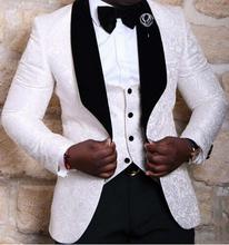 Custom Made Groomsmen Shawl Lapel Groom Tuxedos Red/White/Black Men Suits Wedding Best Man Blazer (Jacket+Pants+Tie+Vest) C75(China (Mainland))
