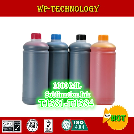 1L*4 pcs Sublimation ink suit for Epson Stylus Office TX320F TX325F etc , suit for T1381 -T1384 , 4L Total