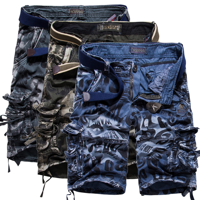 Plus Size 29-40-42 Mens Military Cargo Shorts 2016 Brand New Army Camouflage 95% Cotton Loose(China (Mainland))