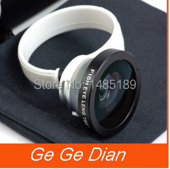 Universal 180 Clip Fisheye Fish eye Camera Lens For iphone 4S 5 5S 5c samsung galaxy S3 S4 S5 Circular shape phone camera(China (Mainland))
