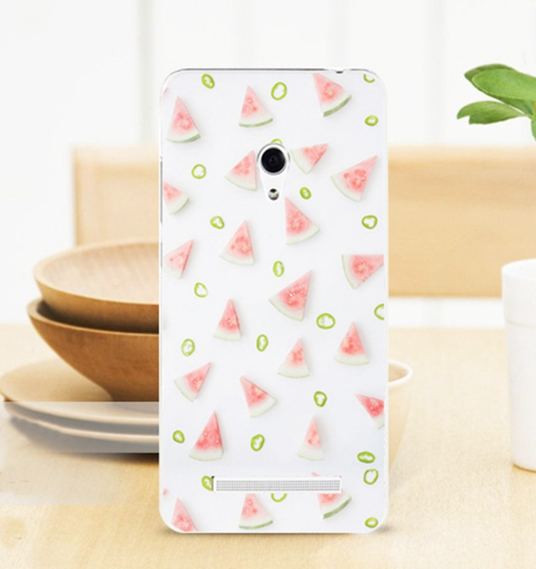 2015 Fashion Side Transparent Hard Back Cover Cell Phone Skin Case for ASUS Zenfone 5 zenfone5 A501CG A500CG A500KL ASU5W483(China (Mainland))