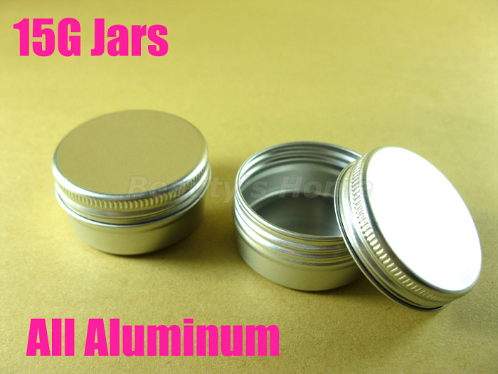 15g Aluminum jars cosmetic cream make jar refillable bottle Empty #1947  -  Packing Supplier(Bottles and Jars store)