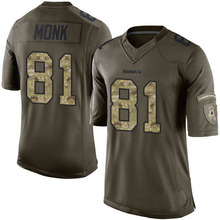 Men's #81 Art Monk Elite Green Salute to Service Football Jersey 100% Stitched(China (Mainland))